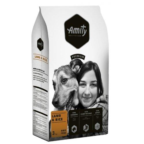 Сухой корм для собак Amity ягненок с рисом 3 кг