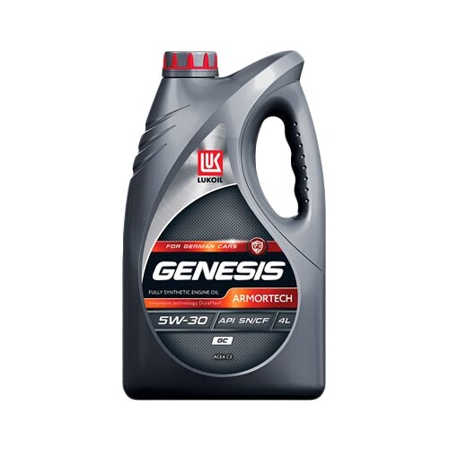 Моторное масло ЛУКОЙЛ Genesis Armortech GC 5W-30 4 л моторное масло лукойл genesis armortech fd 5w 30 4 л