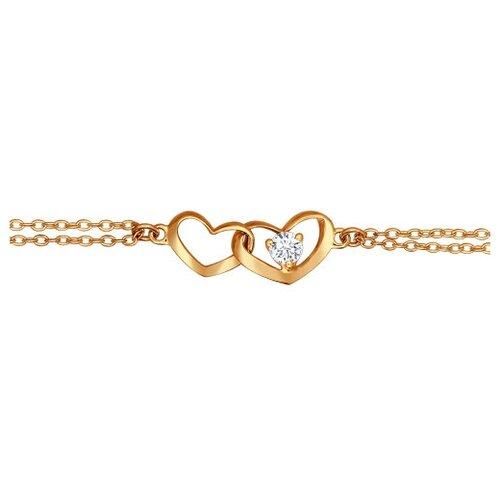 SOKOLOV Тонкий браслет с фианитами 93050043, 16 см, 2.73 г