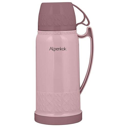 Классический термос Alpenkok со стеклянной колбой (1.8 л) розовый