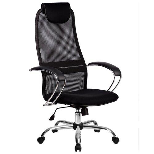 Компьютерное кресло Метта BK-8 Ch офисное, обивка: текстиль, цвет: 20-Черный компьютерное кресло метта bp 2 pl офисное обивка натуральная кожа цвет 721 черный