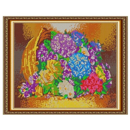 Светлица Набор для вышивания бисером Цветы в корзине 38 х 30 см, бисер Чехия (539П)