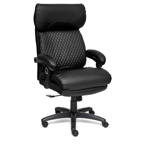 Фото - Компьютерное кресло TetChair Chief для руководителя, обивка: текстиль/искусственная кожа, цвет: черный/черный/черный дутики для девочки biki цвет черный a b23 33 c размер 34