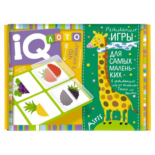 Фото - Настольная игра Айрис-Пресс IQ лото Что в корзинке? пластиковое лото для малышей что в корзинке найди половинку
