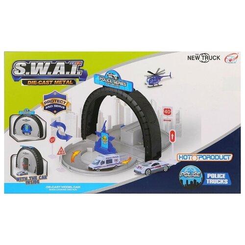 Купить Tian Hong Toys Полиция TH8533 белый/голубой/серый, Детские парковки и гаражи