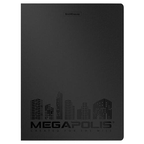 Фото - ErichKrause Папка файловая с 40 карманами MEGAPOLIS A4, 4 штуки черный erichkrause папка файловая с 40 карманами на спирали metallic а4 разноцветный