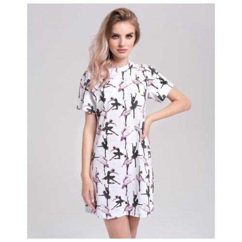 Сорочка Marengo Textile размер 40-XS белый платье oodji ultra цвет красный белый 14001071 13 46148 4512s размер xs 42 170