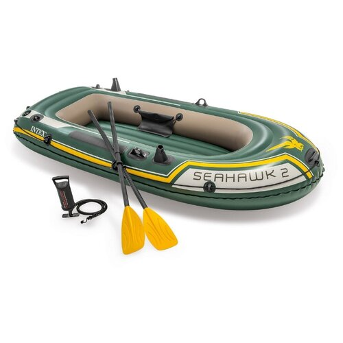 цена на Надувная лодка Intex Seahawk-2 Set (68347) зеленый