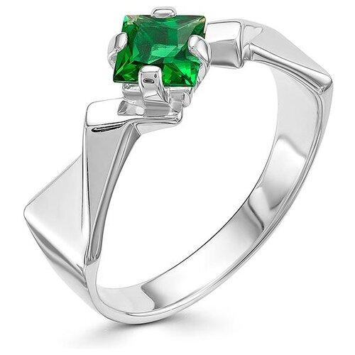 АЛЬКОР Кольцо с 1 изумрудом из серебра 01-0579-00НИ-00, размер 18 алькор кольцо с 1 изумрудом из серебра 01 0577 00ни 00 размер 18