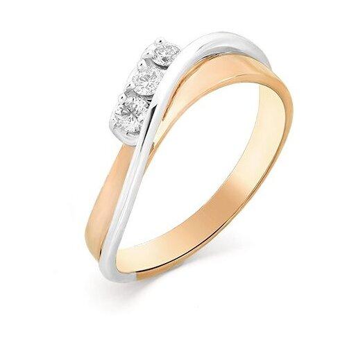 Мастер Бриллиант Кольцо с 3 бриллиантами из красного золота 1-106-798, размер 18 мастер бриллиант кольцо с 6 бриллиантами из красного золота 1 106 567 размер 18 5