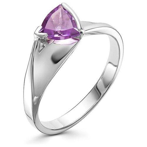 АЛЬКОР Кольцо с 1 аметистом из серебра 01-0578-00АМ-00, размер 18 алькор кольцо с 1 аметистом из серебра 01 0578 00ам 00 размер 17 5