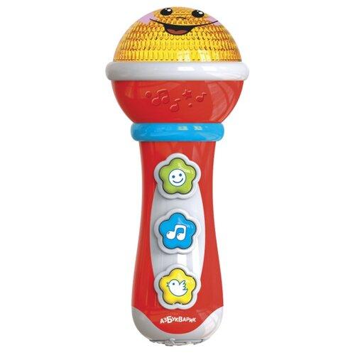 Купить Азбукварик микрофон Маленький Музыкант красный, Детские музыкальные инструменты