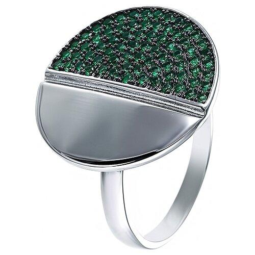 JV Кольцо с фианитами из серебра SR26978-BM2-KO-001-WG, размер 17 jv кольцо с фианитами из серебра r150424d ko 001 wg размер 17