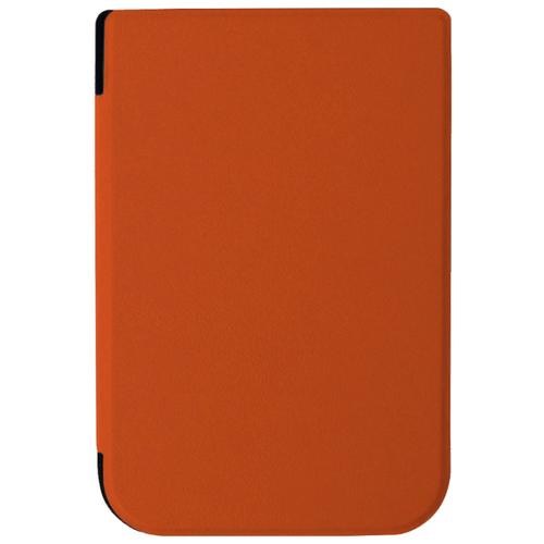 Чехол-обложка футляр MyPads для PocketBook 631 Plus Touch HD 2 тонкий с магнитной застежкой оранжевый