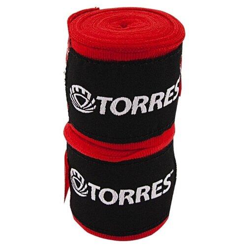 Бинты боксерские TORRES, красный, 2.5 м x 5.0 см (PRL619016R)