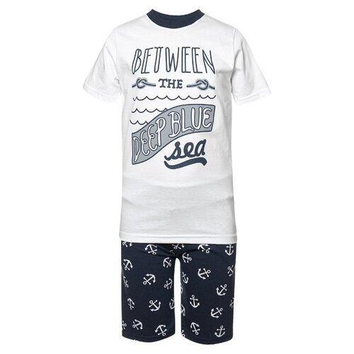 Купить Комплект одежды M&D размер 116, белый/синий, Комплекты и форма