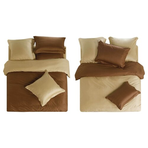 Фото - Постельное белье 1.5-спальное СайлиД L-5, сатин, 70 х 70 см коричневый / бежевый постельное белье 1 5 спальное la noche del amor 587 сатин 70 х 70 см