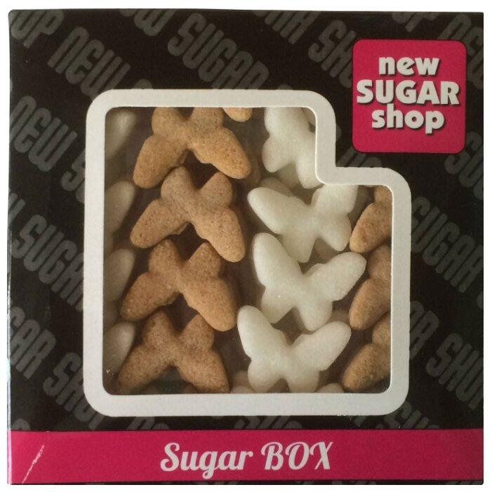 New SUGAR shop фигурный Sugar BOX Бабочки сахарные тростниковые и белые