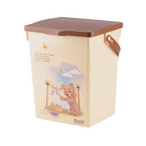ПОЛИМЕРБЫТ Контейнер Polly для детского стирального порошка 5 л бежевый контейнер для детской аптечки полимербыт polly с вкладышем 6 5 л