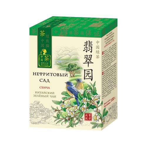 Чай зеленый Green Panda Нефритовый сад листовой , 100 г цена 2017