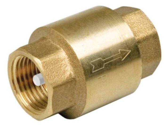 Обратный клапан пружинный Aqualink ИС.080365 муфтовый (ВР/ВР), латунь