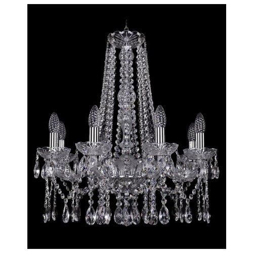 Люстра Bohemia Ivele Crystal 1413 1413/8/200/h-61/Ni, E14, 320 Вт