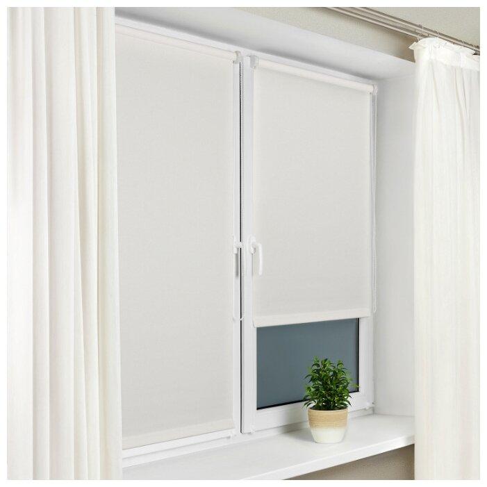 Купить Рулонная штора с направляющими струнами Sola Сантайм уни, Белый, ширина 57 см по низкой цене с доставкой из Яндекс.Маркета (бывший Беру)