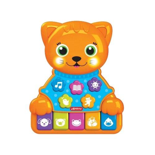 Купить Развивающая игрушка Азбукварик Музыкальные зверята. Котик оранжевый, Развивающие игрушки