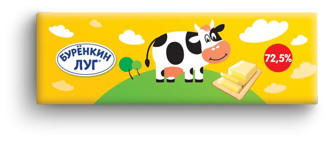 Бурёнкин луг Масло растительно-сливочное Буренкин луг 72.5%, 400 г