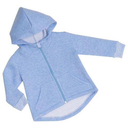 Толстовка ALENA размер 116-122, голубой меланж свитшот alena размер 116 122 белый
