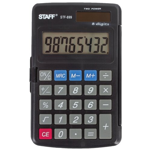 Купить Калькулятор карманный STAFF STF-899 черный