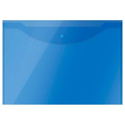 Купить OfficeSpace Папка-конверт на кнопке А3, пластик 150 мкм синий, Файлы и папки