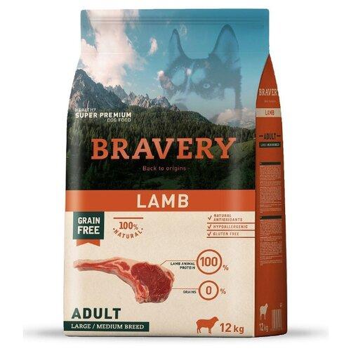 Сухой корм для собак Bravery ягненок 12 кг