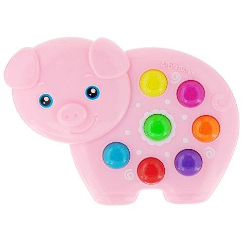 Интерактивная развивающая игрушка Азбукварик Веселушки Свинка розовый интерактивная игрушка азбукварик веселые уроки от 3 лет