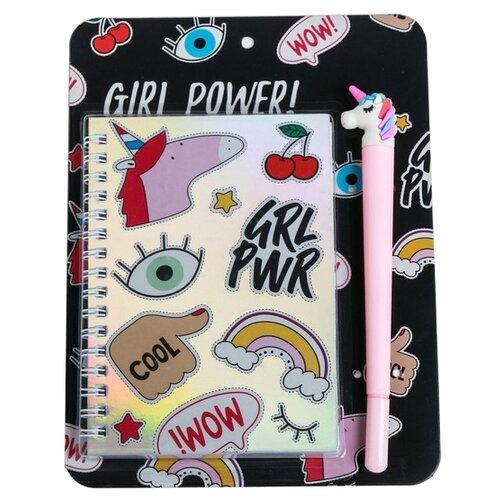 Купить Набор ArtFox GIRL POWER! 4564187 недатированный, А6, 40 листов, голография, Ежедневники, записные книжки