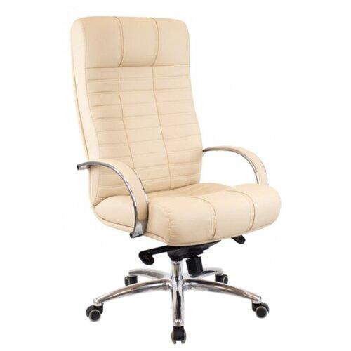 Фото - Компьютерное кресло Everprof Atlant AL M для руководителя, обивка: натуральная кожа, цвет: бежевый компьютерное кресло everprof drift m для руководителя обивка натуральная кожа цвет коричневый