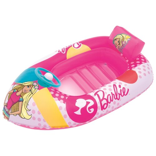 Лодочка надувная Bestway Barbie 93204 BW розовый надувная лодочка bestway рыбки 34036 bw желтый
