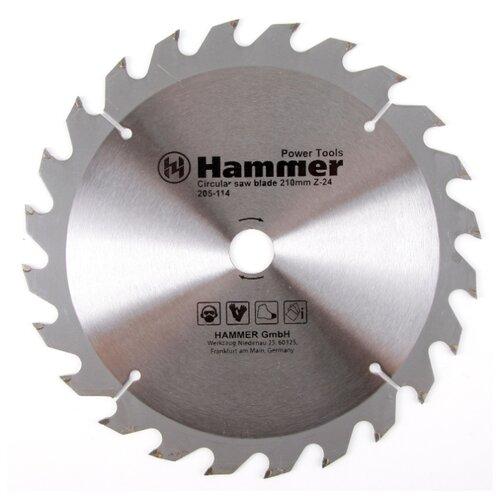 Пильный диск Hammer Flex 205-114 CSB WD 210х20 мм пильный диск hammer flex 205 106 csb wd 165х30 мм