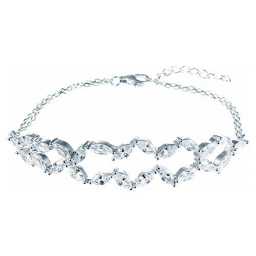 JV Браслет с фианитами из серебра B26642-Y2-BT-001-WG, 18 см, 8.61 г jv браслет с фианитами из серебра 5252br2501 bt 001 wg 18 см 2 86 г