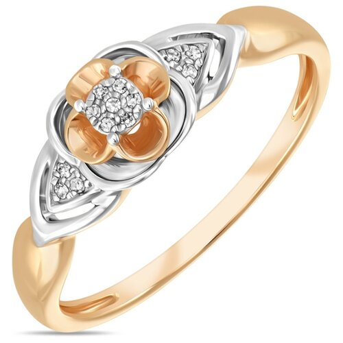 Бронницкий Ювелир Кольцо из красного золота R01-D-RR01049ADI-R17, размер 17 бронницкий ювелир кольцо из красного золота r01 d 1983089ab r17 размер 17