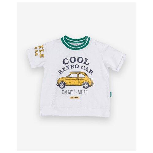 Купить Футболка Gulliver Baby размер 86, белый, Футболки и рубашки
