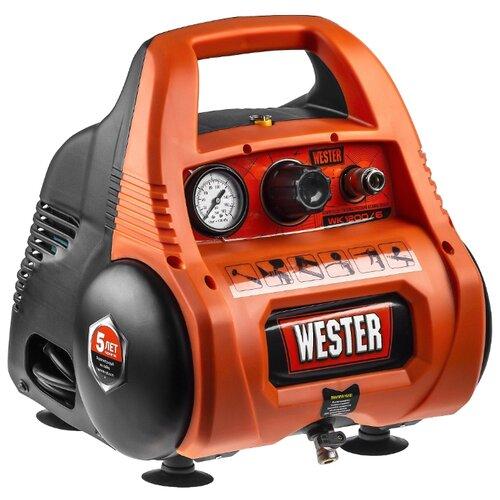 Компрессор безмасляный Wester WK1200/6, 6 л, 1.1 кВт