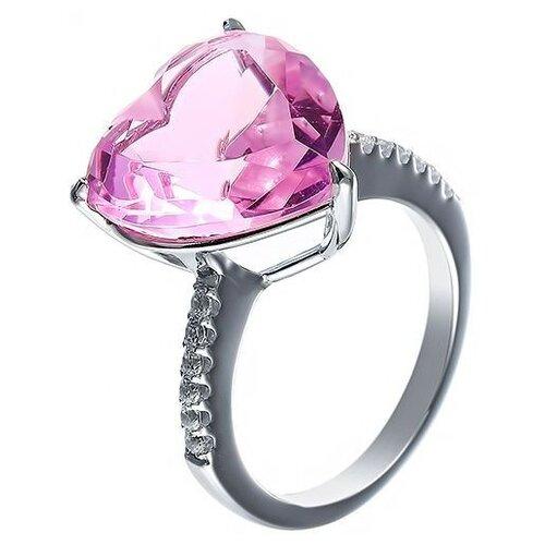 JV Кольцо с стеклом и фианитами из серебра SY-356173-R-KO-US-002-WG, размер 16 jv кольцо с стеклом и фианитами из серебра sy 356989 r ko 002 wg размер 16 5