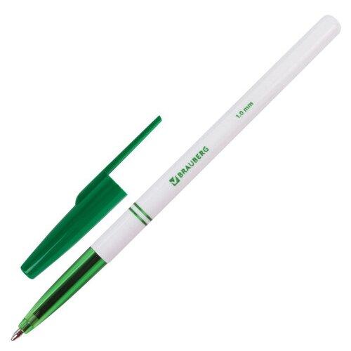 BRAUBERG Ручка шариковая Офисная, 1.0 мм (141511), зеленый цвет чернил ручка гелевая brauberg jet синий