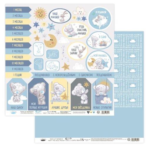 Купить Бумага Mr. Painter 30, 5x30, 5 см, 10 листов, MTY-PSR 190601 Наш малыш. Мальчик №7, лист для вырезания голубой, Бумага и наборы