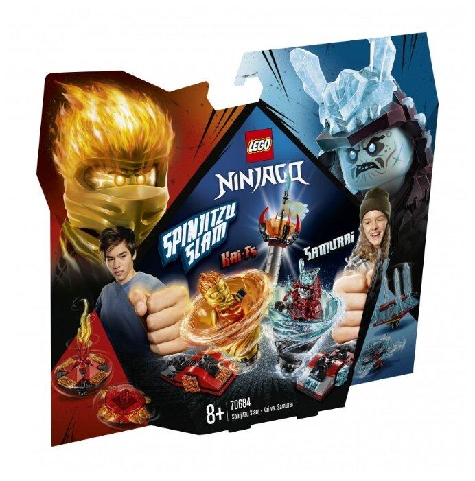 Конструктор LEGO Ninjago 70684 Бой мастеров кружитцу — Кай против Самурая