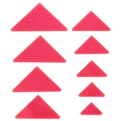 Купить Hemline Набор лекал-треугольников для пэчворка Sew Easy ERGG08, 9 шт. розовый, Инструменты и аксессуары
