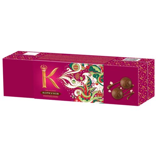 шоколад а коркунов горький с миндалем 55% 90 г Набор конфет Коркунов Шкатулка молочный и горький шоколад 256 г