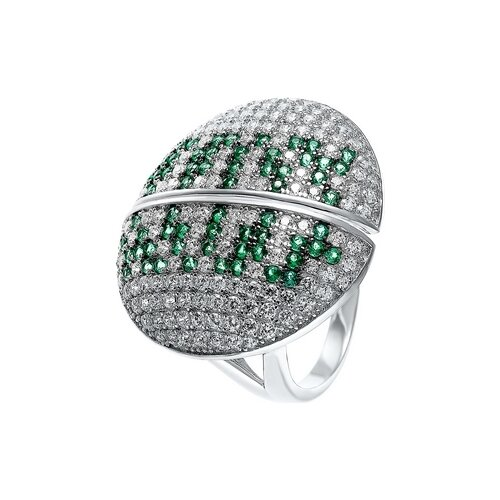 JV Кольцо с фианитами из серебра R27103-W3-KO-001-WG, размер 16.5 jv кольцо с фианитами из серебра r27103 w3 ko 001 wg размер 16 5