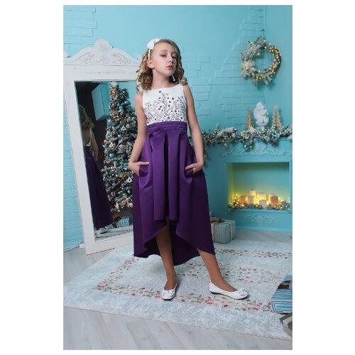 Купить Платье Ladetto размер 32-134, фиолетовый, Платья и сарафаны